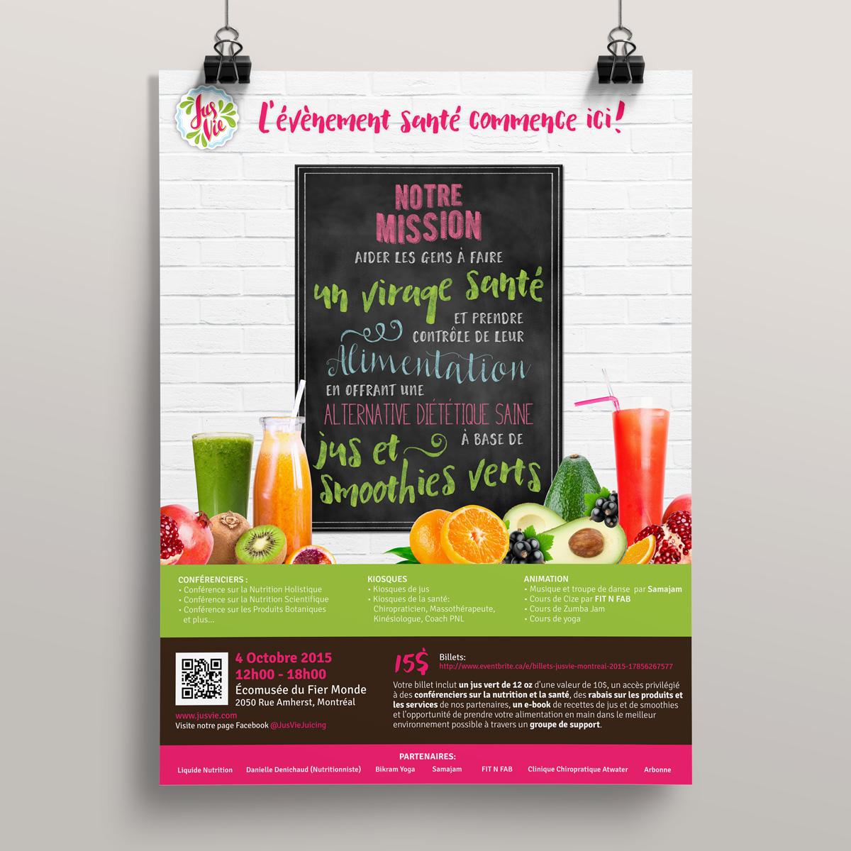 JusVie Montreal 2015 - Poster - Andimaginary Design