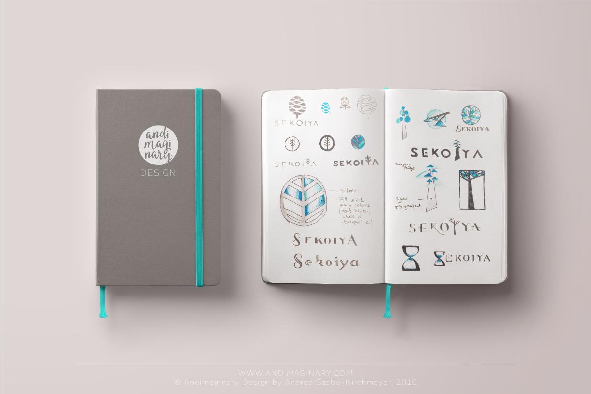 Sekoiya logo sketches_2016 by Andimaginary Design