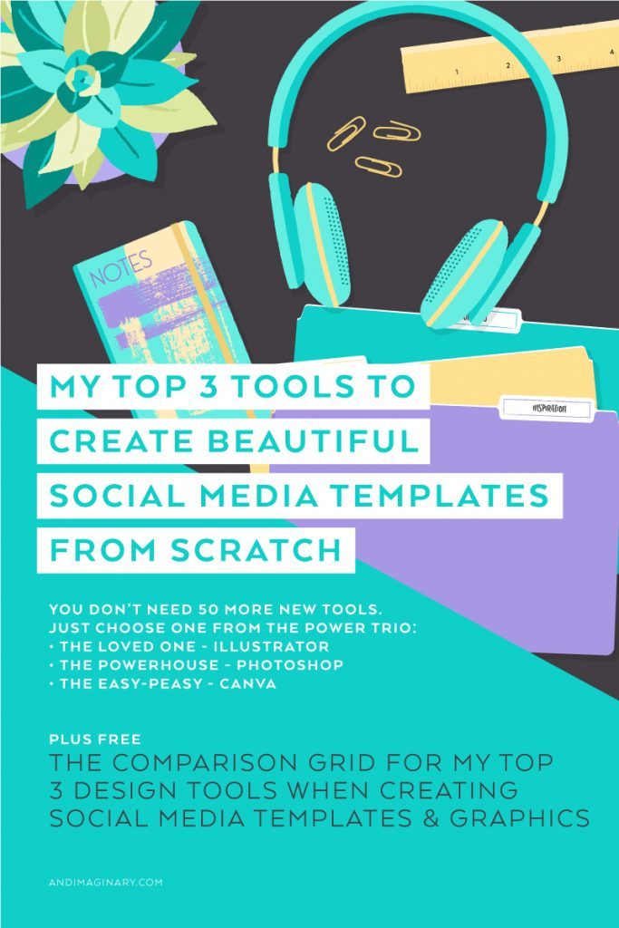 Tools for Creating Social Media Templates and Graphics by Andimaginary Creative Co.