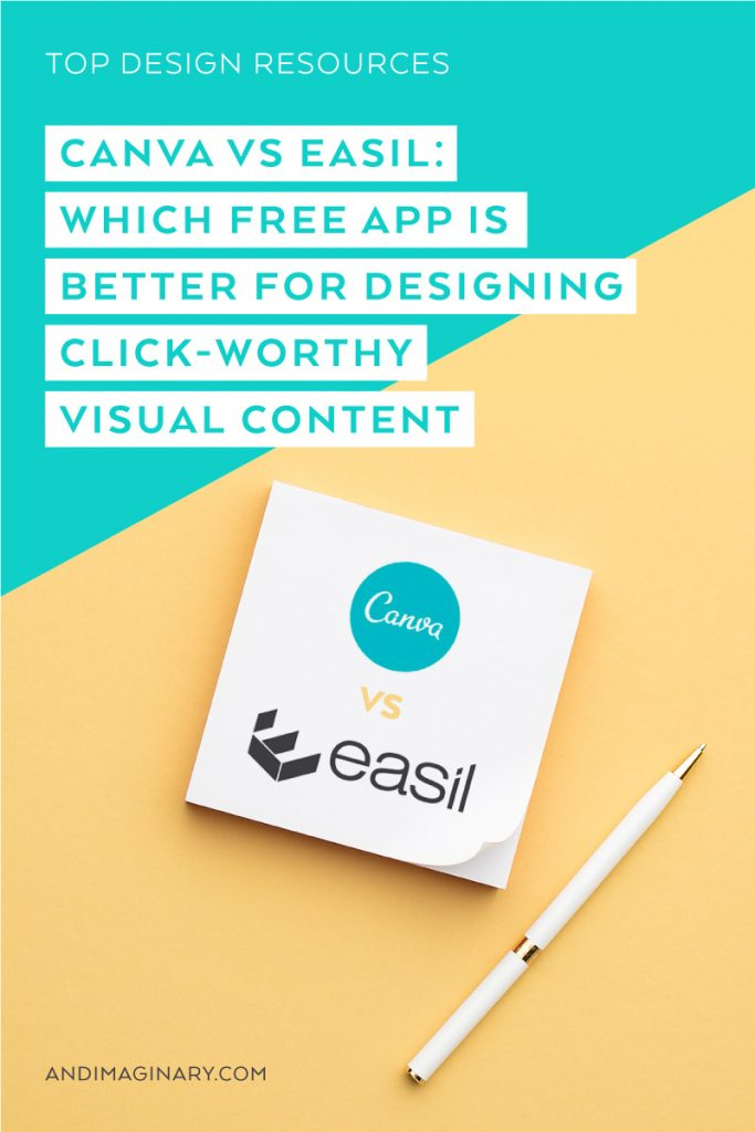 I researched 2 awesome free design apps - Canva & Easil - let's see which one is better