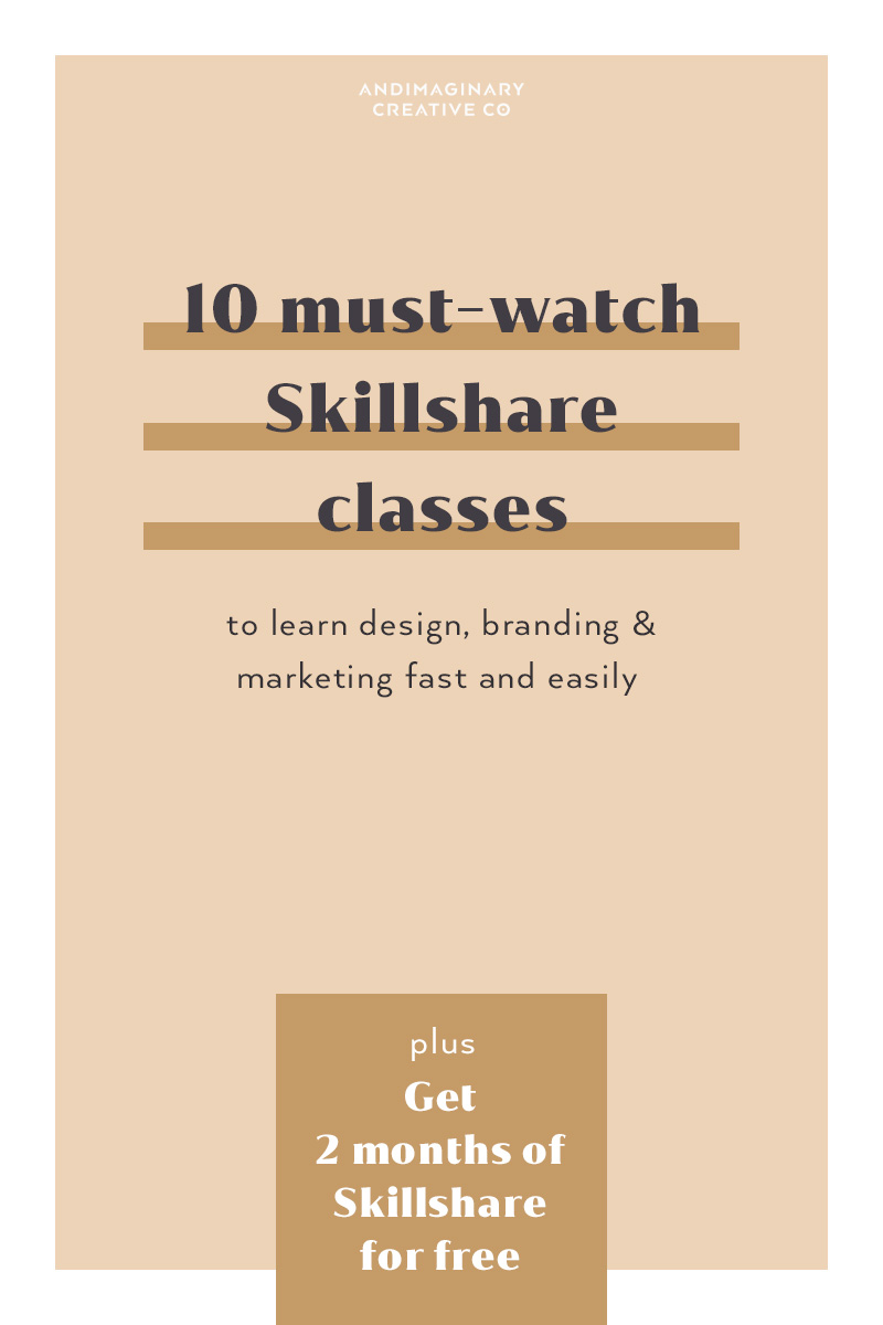 10 must-watch Skillshare classes to learn design, branding & marketing fast and easily