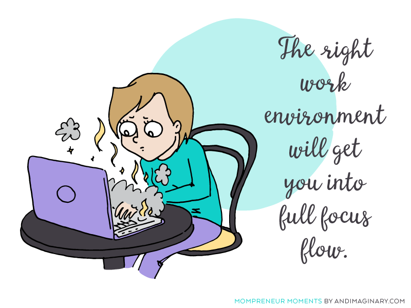 How the right work environment can help you tackle difficult tasks like blogging and content creation - Get into the flow