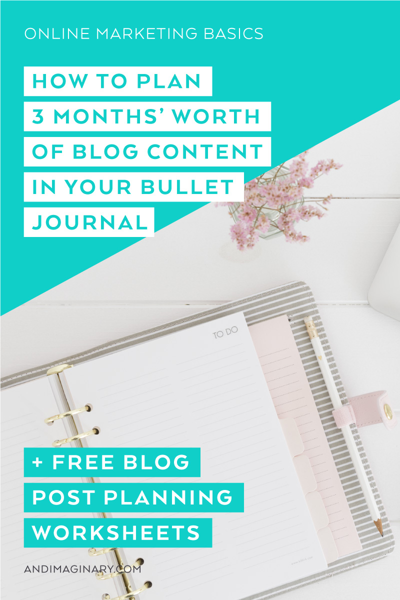 Planning Blog Posts in Your Bullet Journal