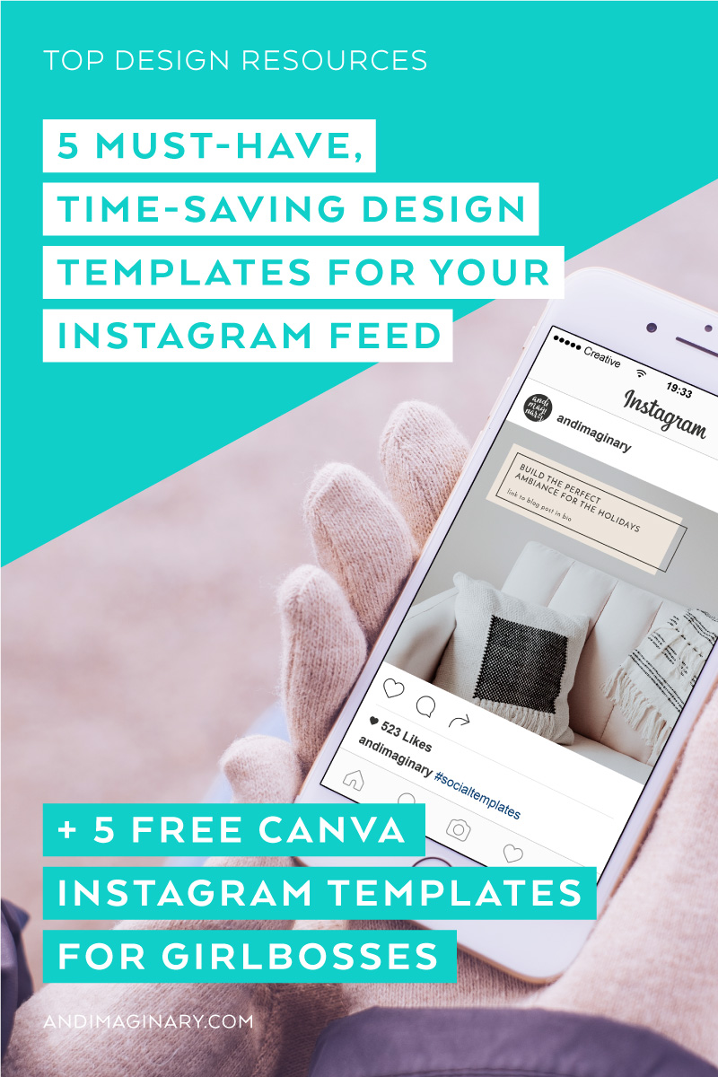 No need to go super complicated with templates for your Instagram feed. You only need these 5 to be able to post in style