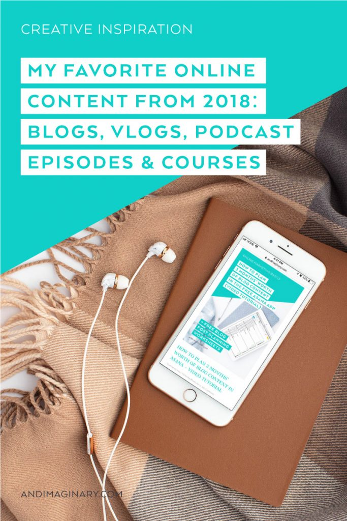 My favorite blog posts, vlogs, podcast episodes and courses.