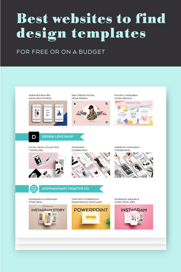 5 Websites to find quality design templates and mockups for free or on a budget