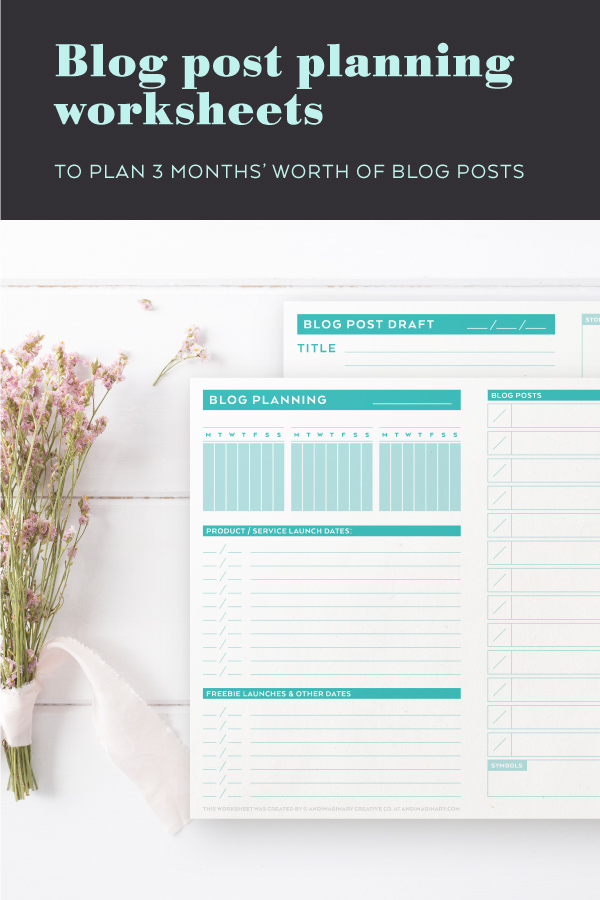 These blog planning sheets will help you plan 3-month worth of blog content